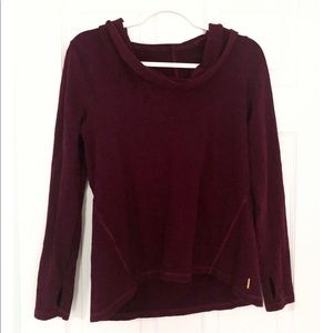 Lucy | Burgundy Pull Over Hoodie